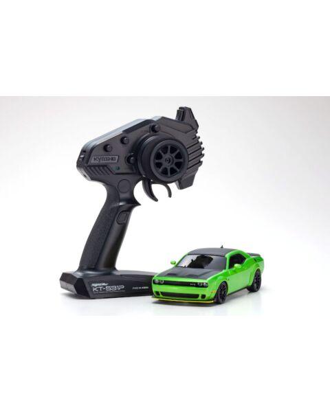 Kyosho Miniz AWD Challenger Green SRT Hellcat Redeye
