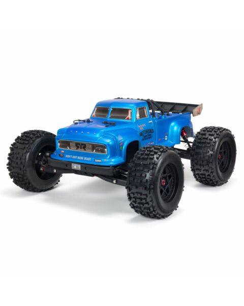 Arrma 1/8 NOTORIOUS 6S V5 4WD BLX Stunt Truck with Spektrum Firma RTR Blue