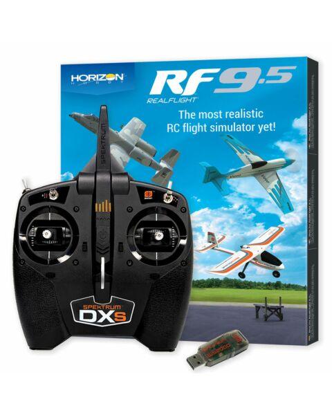 RealFlight 9.5 Flight Simulator Combo w/ Spektrum DXS & WS2000