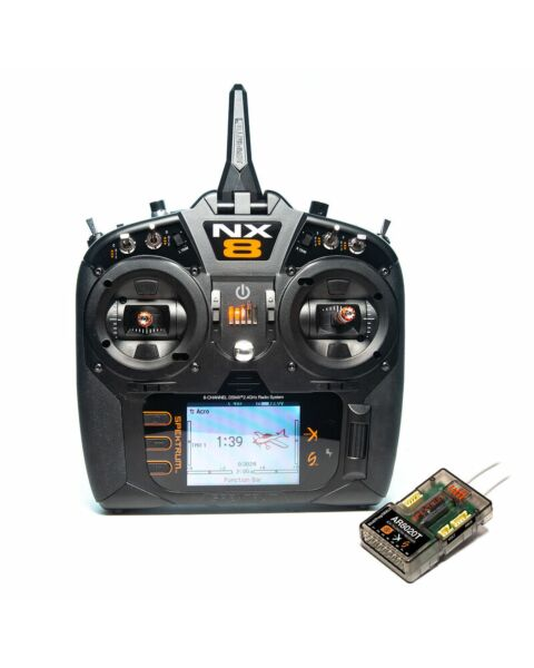 Spektrum NX8 8-Channel DSMX Transmitter w/ AR8020T Telemetry Receiver